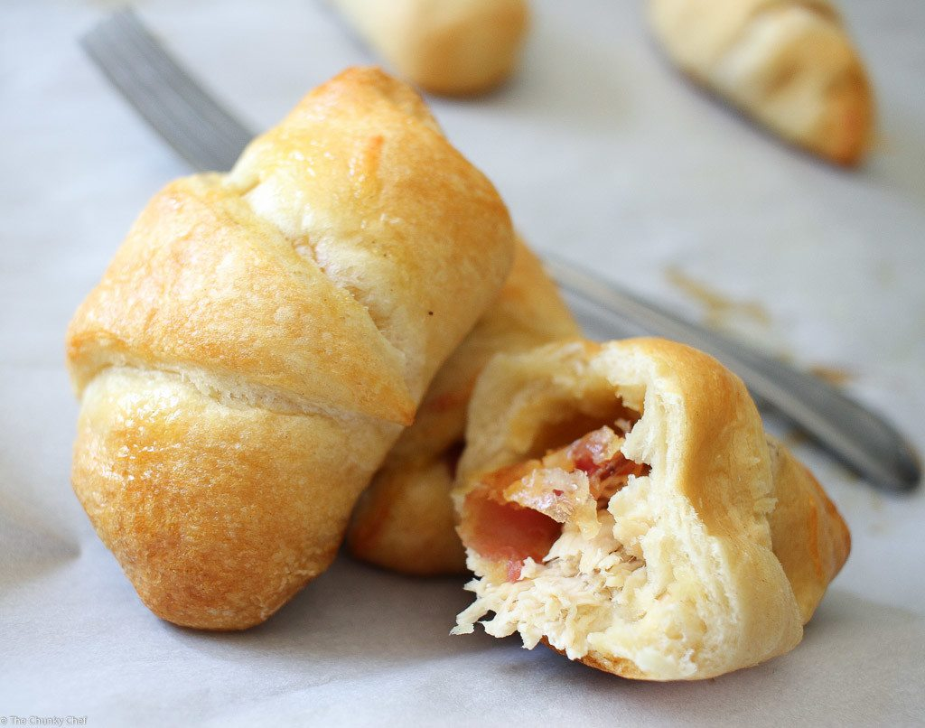 Chicken and Bacon Ranch Stuffed Crescents