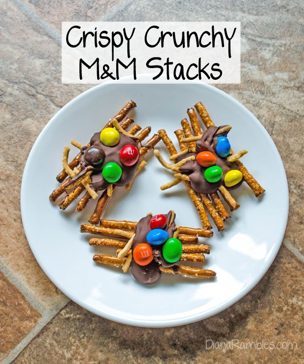 Crispy Crunchy M&Ms Stacks