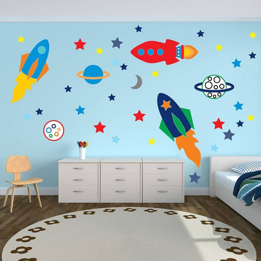 Kids room decor tips and tricks from my sister for Childrens bedroom wall designs