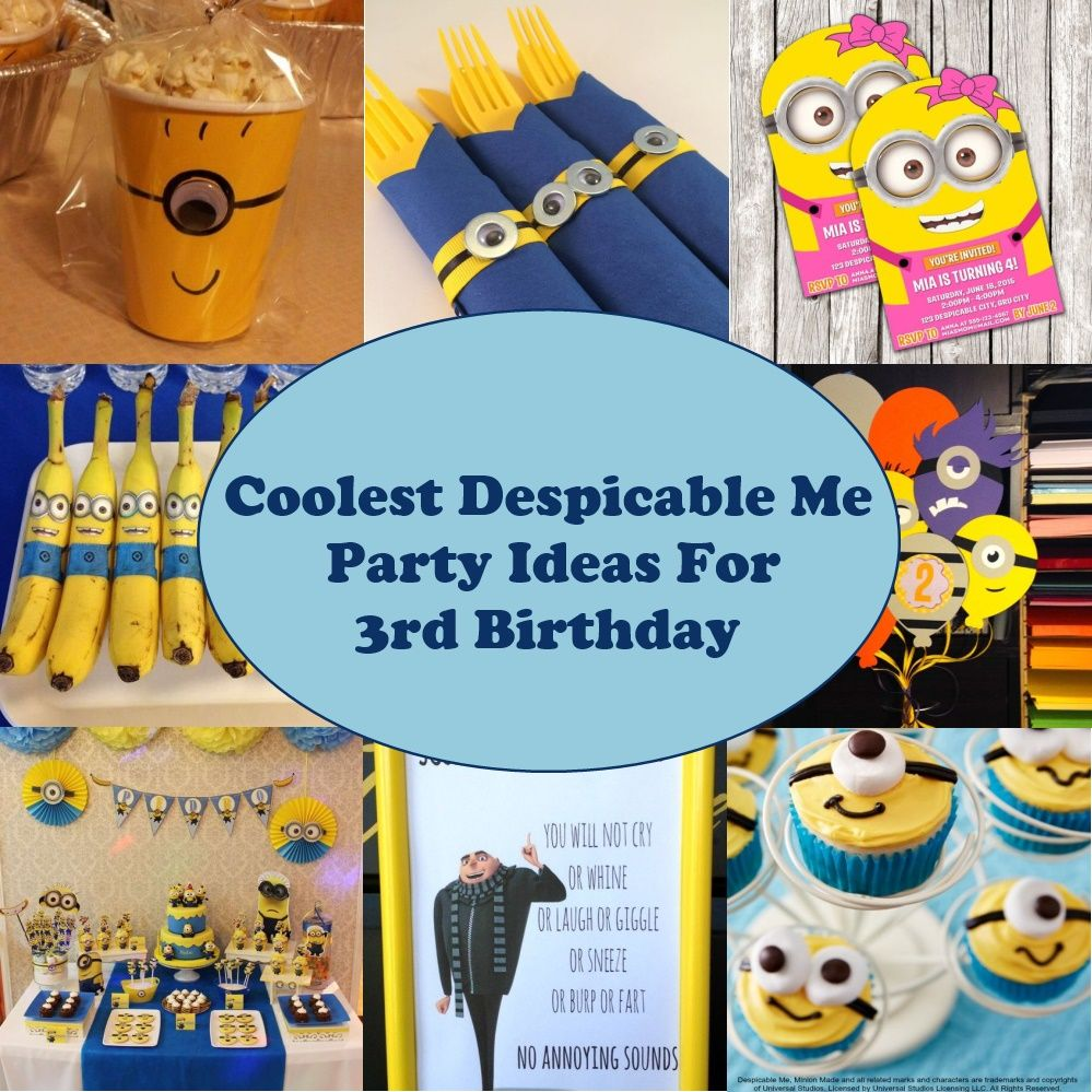 Coolest Despicable Me Party Ideas For 3rd Birthday