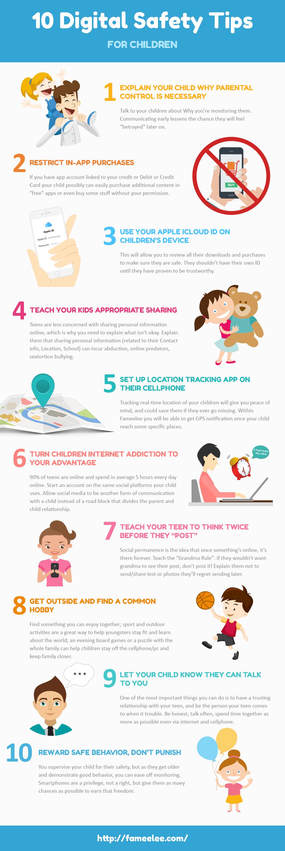 digital safety for children infographic