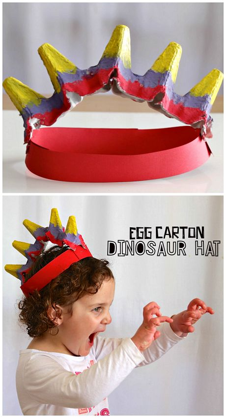 Dinosaur Craft With Eggs Box