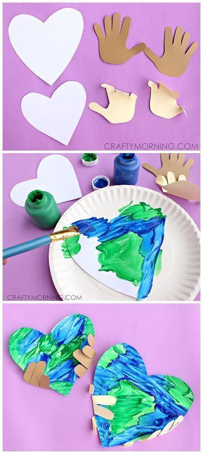 Simple Earth Day Handprint Craft